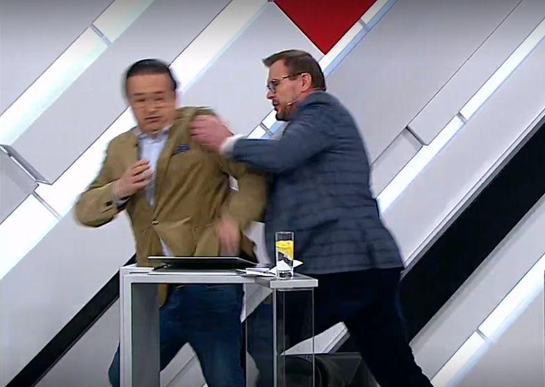 Ukraiński prawnik nie zapanował nad emocjami w programie na żywo. Rzucił się na oponenta.