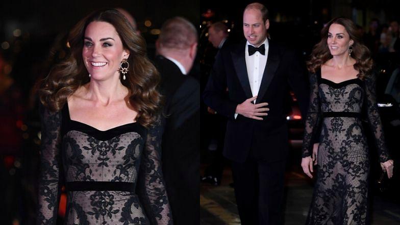 """Eleganccy książę William i Kate Middleton na """"randce"""" w teatrze"""