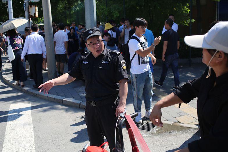 Wybuch przed ambasadą USA w Pekinie