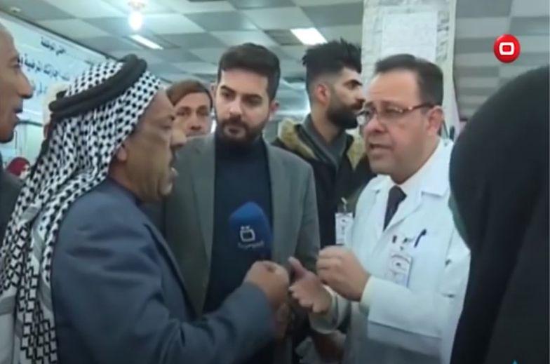 Irak. Mężczyzna zmarł na wizji. Udzielał wywiadu o złym poziomie opieki zdrowotnej