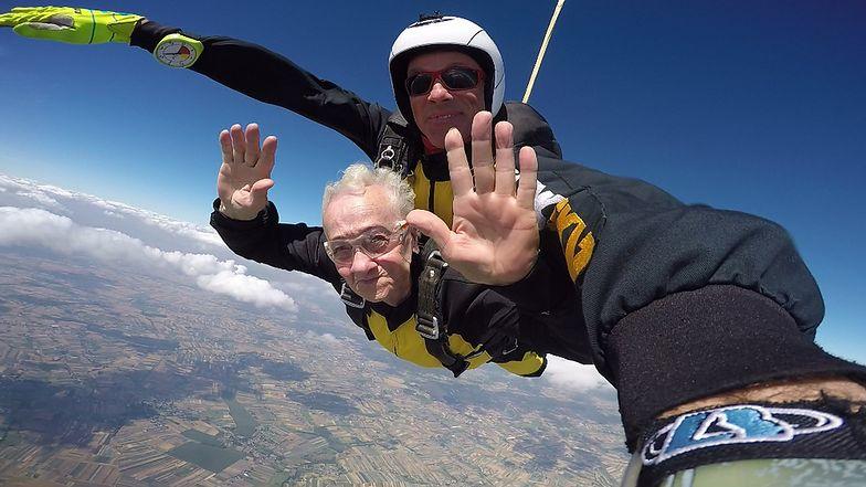 Krystyna Gołdzińska marzyła o skoku ze spadochronem