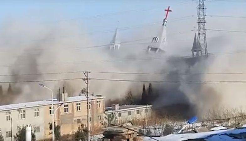 Chińczycy wysadzili w powietrze chrześcijański kościół. Wierni w rozpaczy