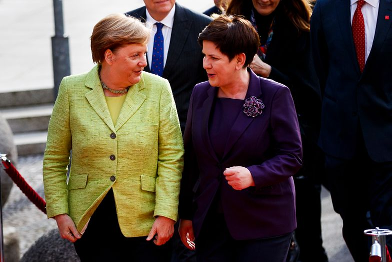 Kanclerz Angela Merkel i premier Beata Szydło