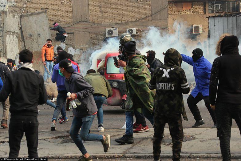 Irak. Starcia manifestantów z siłami bezpieczeństwa w Bagdadzie, 25 stycznia br.