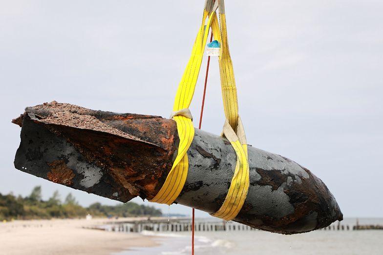 Bomba lotnicza wydobyta z Bałtyku