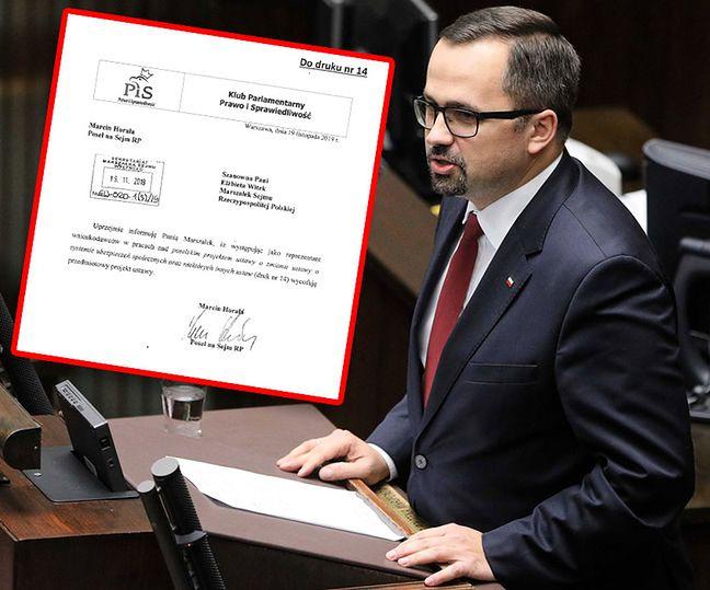 Poseł Marcin Horała wycofał projekt likwidujący 30-krotność ZUS z prac sejmowych