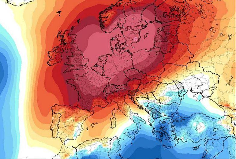 Mapa anomalii temperatury dla najbliższych dni. W Polsce ciepło, nawet do 12 stopni C.