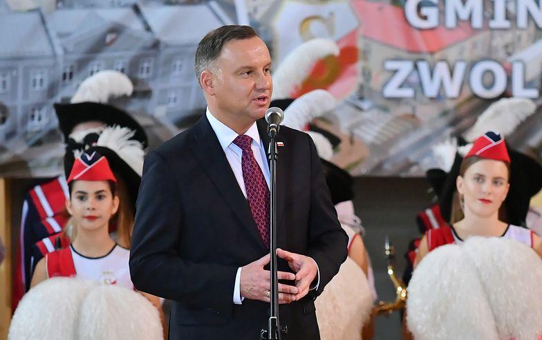Andrzej Duda w Zwoleniu. Prezydent jeszcze tak mocno nie mówił o sędziach