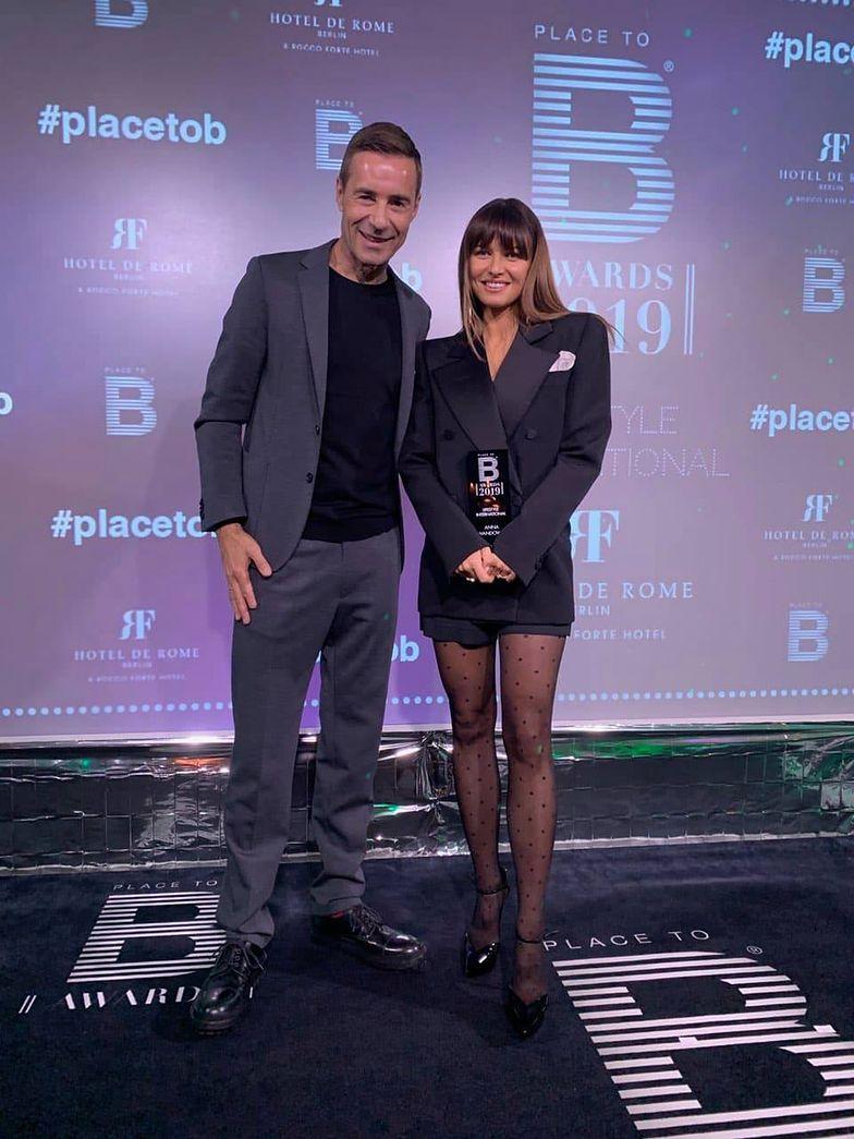 Elegancka Anna Lewandowska odbiera nagrodę The International Lifestyle Award w Berlinie (ZDJĘCIA)