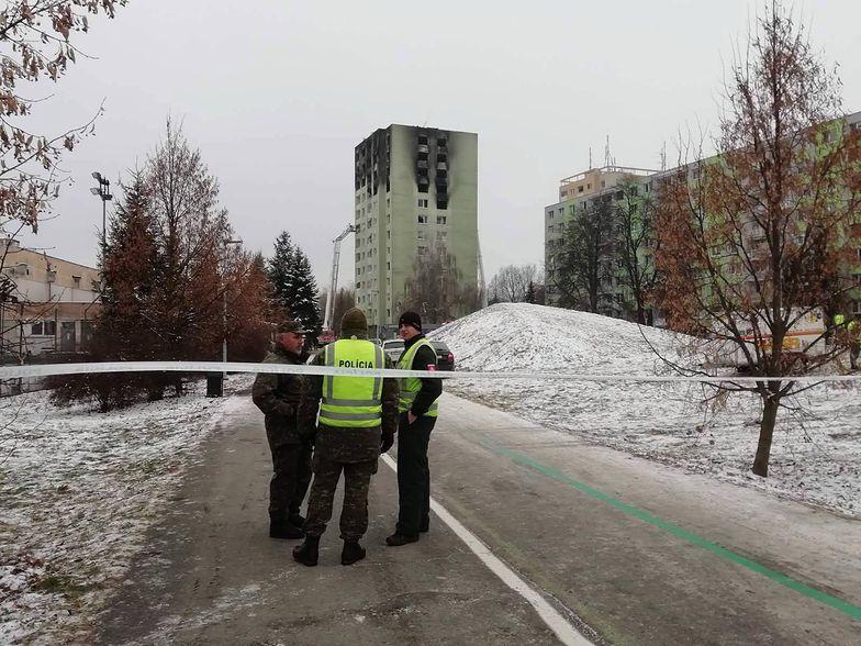 Słowacja. Pożar po wybuchu gazu objął pięć pięter bloku