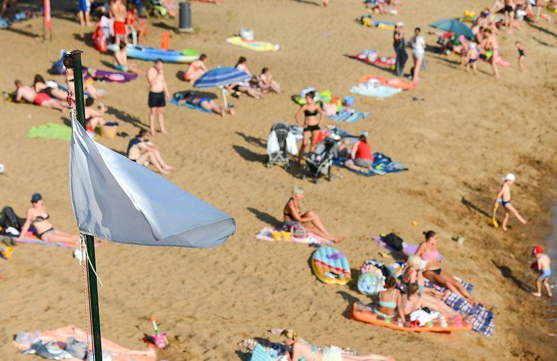 Wladyslawowo, 12.07.2019 r. Turysci na plazy we Wladyslawowie w lipcowy, cieply dzien nad polskim morzem. Fot. Lukasz Dejnarowicz / FORUM