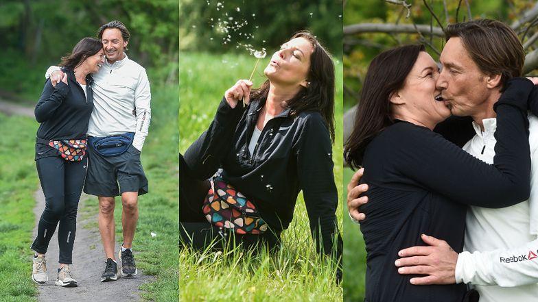 Ilona Felicjańska i Paul Montana trenują w parku