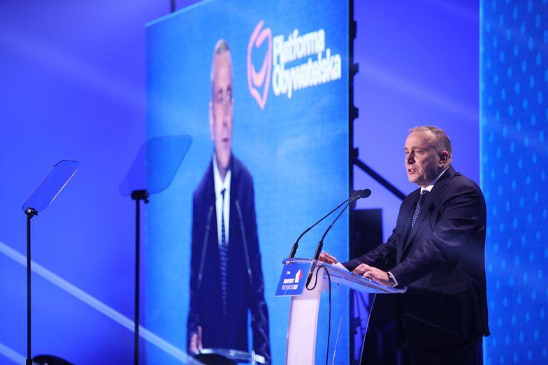 Grzegorz Schetyna przemawiał przed kandydatami