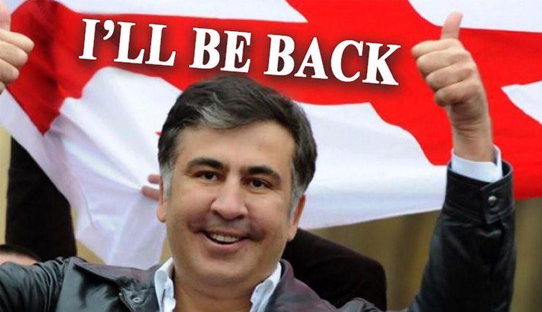 Na wielu stronach, w miejscu treści, wyświetlało się zdjęcie byłego prezydenta Saakaszwilego