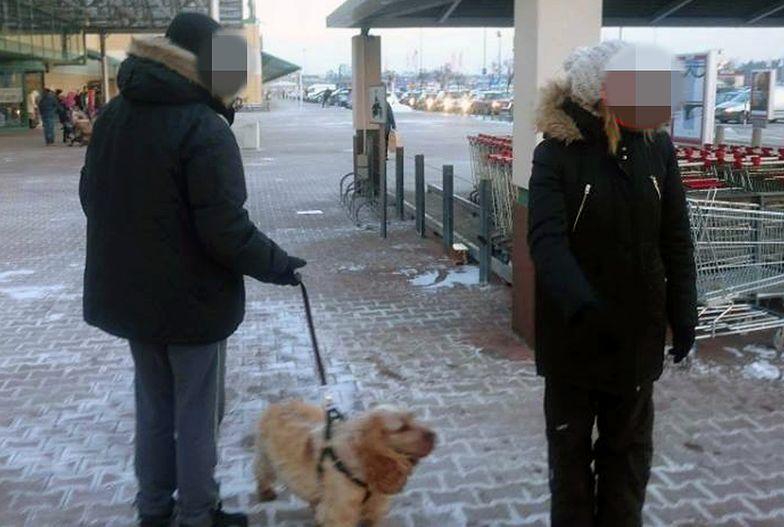 """Zostawili psa pod centrum handlowym. """"Ma futro, nie zmarznie"""""""