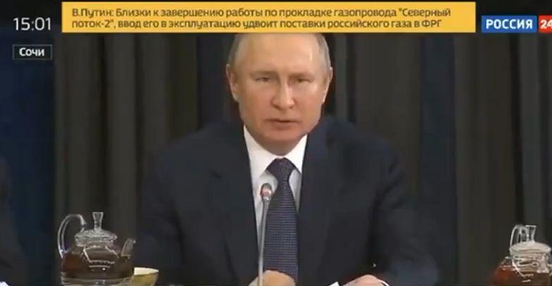Władimir Putin nagle zaczął mówić w innym języku. Prezydent Rosji zaskoczył gości