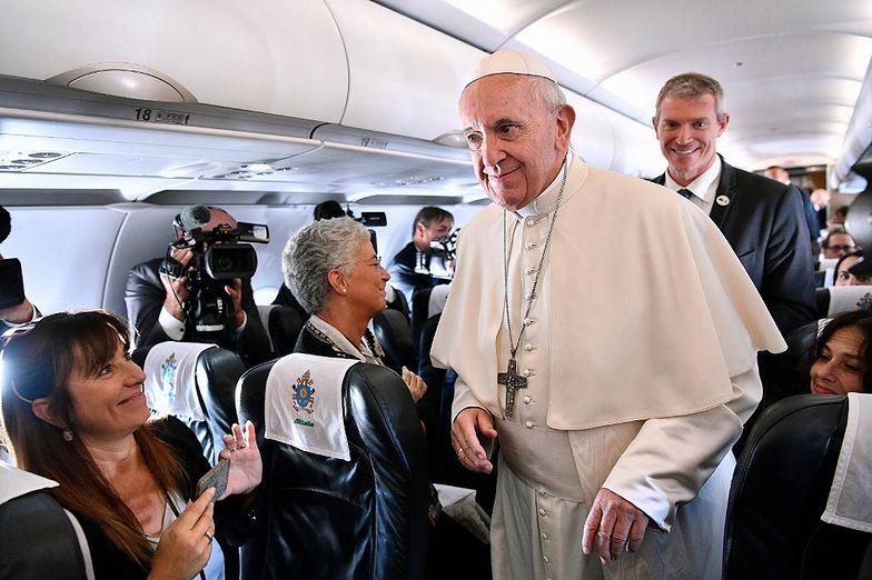 Papież Franciszek w samolocie był wyjątkowo szczery
