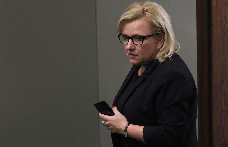 Straty w biurze minister wyliczono na około 7 tys. zł.