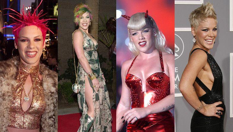 Pink zawiesza karierę! Zobaczcie, jak barwna piosenkarka zmieniała się na przestrzeni lat (ZDJĘCIA)