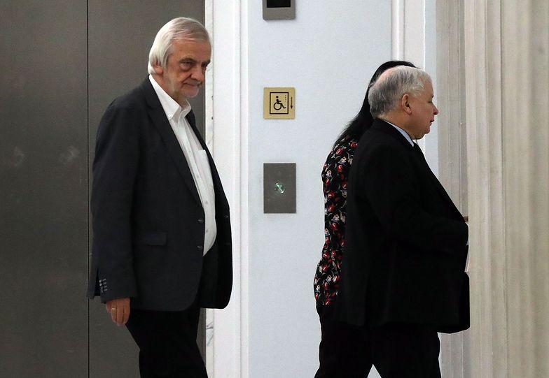 Szef klubu PiS Ryszard Terlecki i szef partii Jarosław Kaczyński
