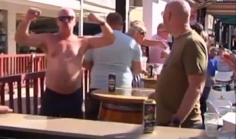Hiszpania. Brytyjscy turyści nie przejmują się koronawirusem.