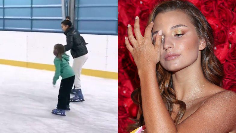 """Julia Wieniawa zabrała 7-letnią siostrę na łyżwy. Fani: """"Tylko czekać, aż mała ZADEBIUTUJE W SHOW BIZIE"""" (FOTO)"""
