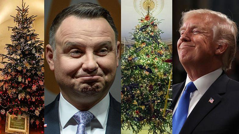 Andrzej Duda i Donald Trump pokazali swoje choinki! (FOTO)