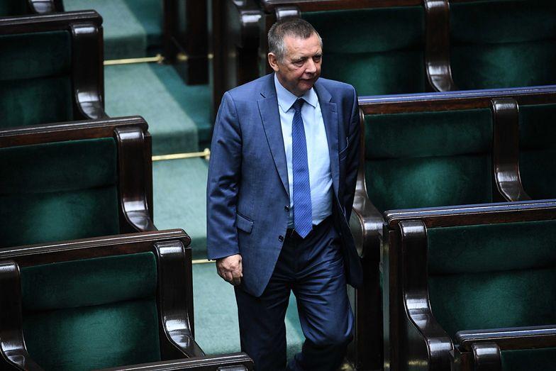 Marian Banaś pojawił się we wtorek 12 listopada na sali sejmowej.