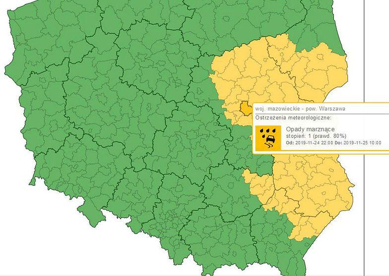 Gołoledź. IMGW wydało ostrzeżenia dla wschodniej Polski.