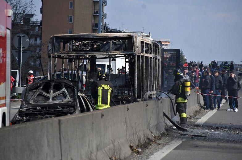 Autokar podpalony koło Mediolanu przez 47-latka z Senegalu