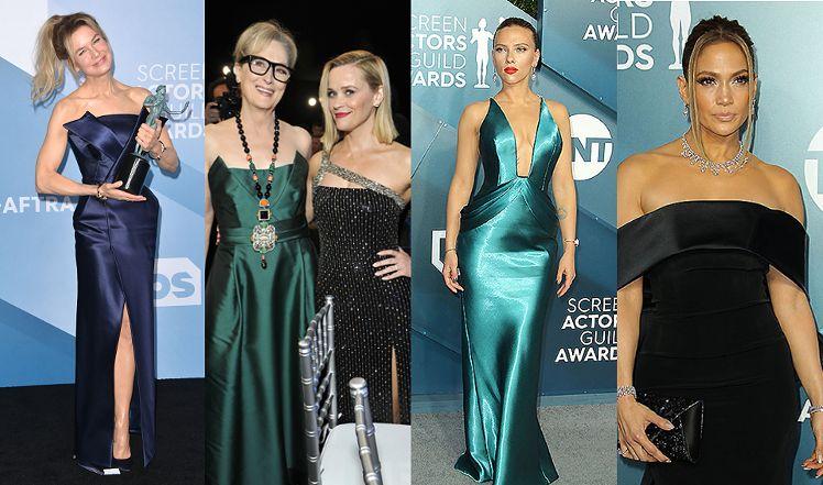Pierwszoligowe aktorki zaprezentowały na czerwonym dywanie kreacje od największych domów mody