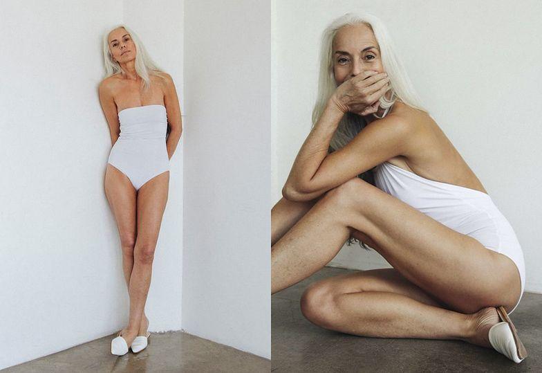 60-letnia modelka pozuje w kostiumach kąpielowych. Seksowna?