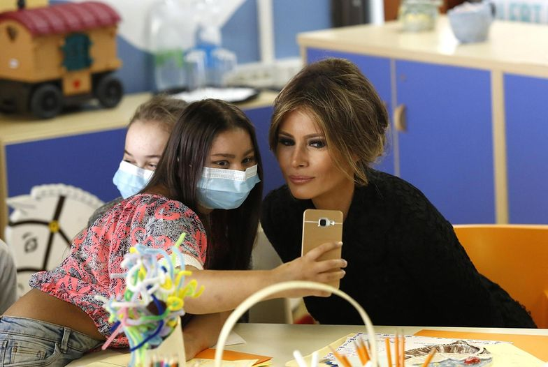 Melania Trump z wizytą w szpitalu dziecięcym