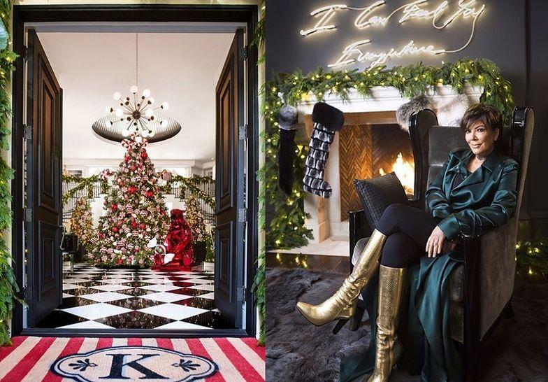 Tak wyglądają tegoroczne świąteczne dekoracje, o które zadbała Kris Jenner