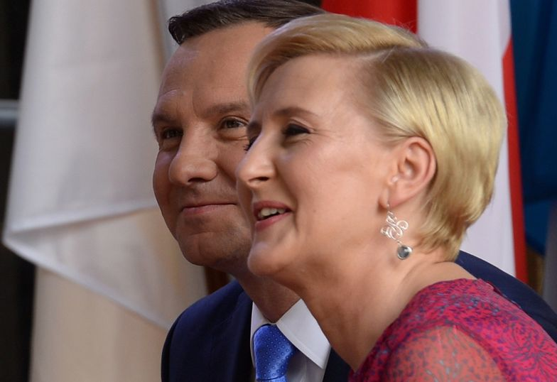 "Agata Kornhauser-Duda i Andrzej Duda na ""Spotkaniu z ..."