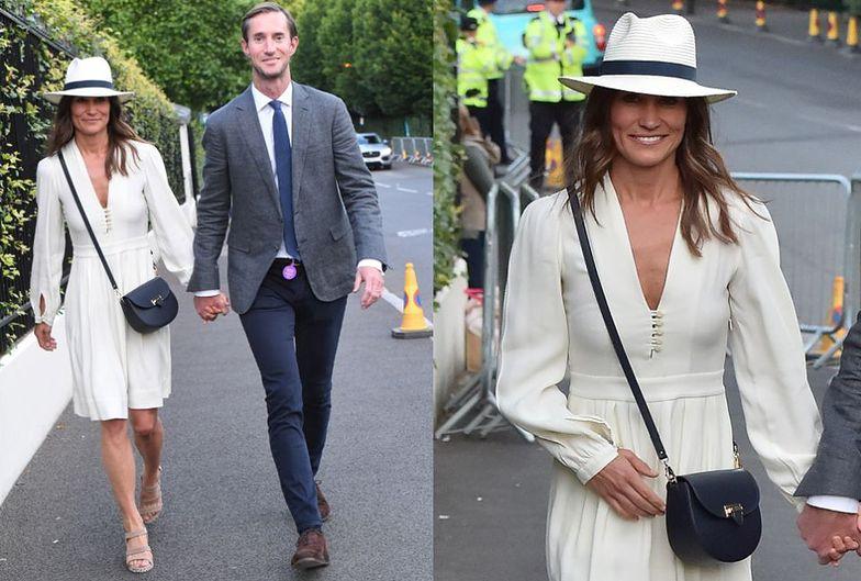 Pippa Middleton z mężem na Wimbledonie