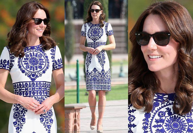 Kate Middleton w sukience Naeem Khan