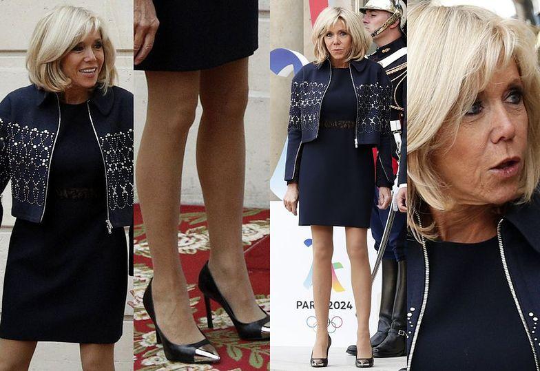 Brigitte Macron na spotkaniu w Pałacu Elizejskim