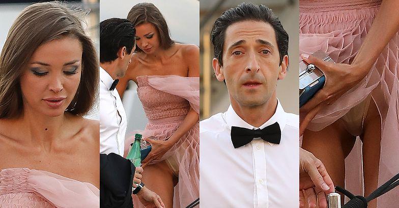 Adrien Brody i Lara Lieto schodzą z jachtu w Saint-Tropez