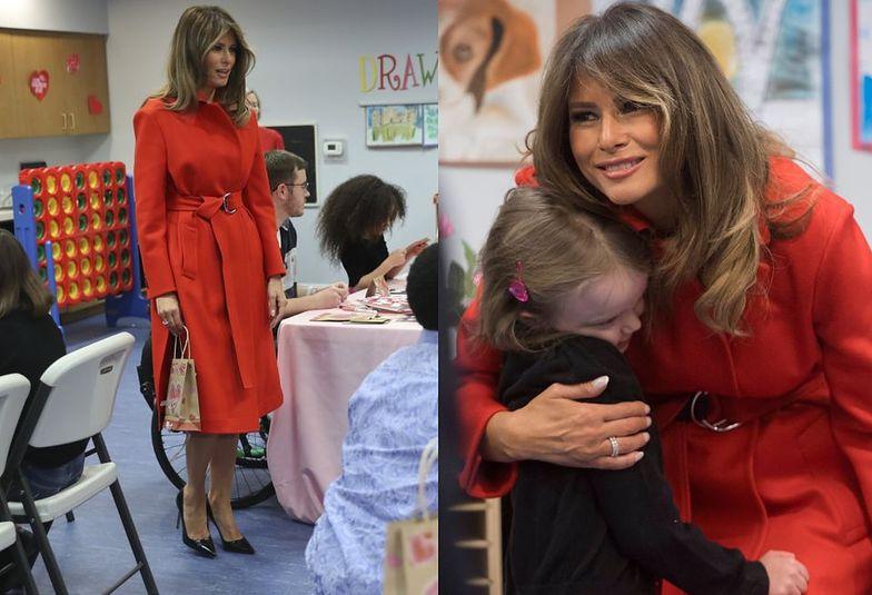 W środę pierwsza dama wybrała się do  Children's Inn at the National Institute of Health