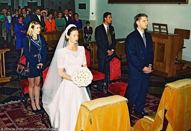 Ślub kościelny Kingi Rusin i Tomasza Lisa