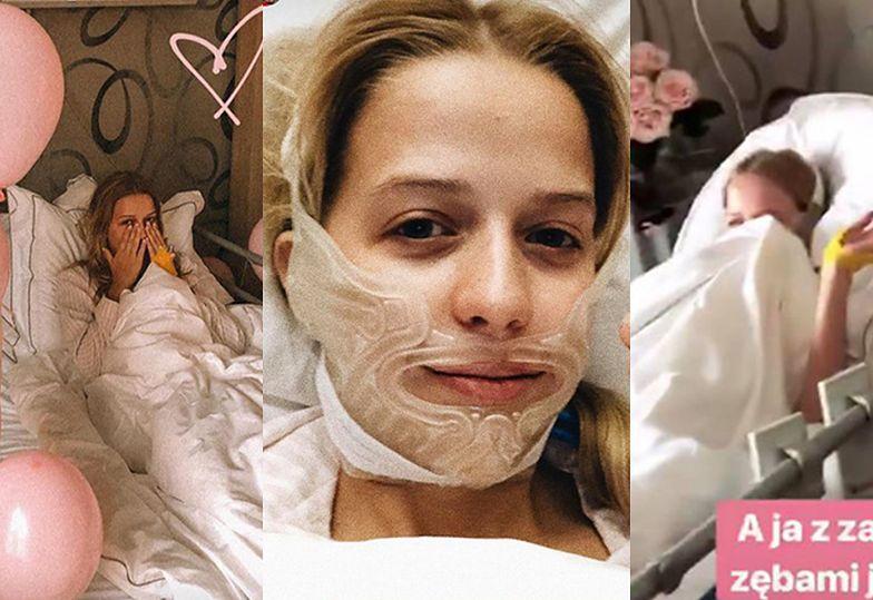 Jessica Mercedes pozuje w szpitalu