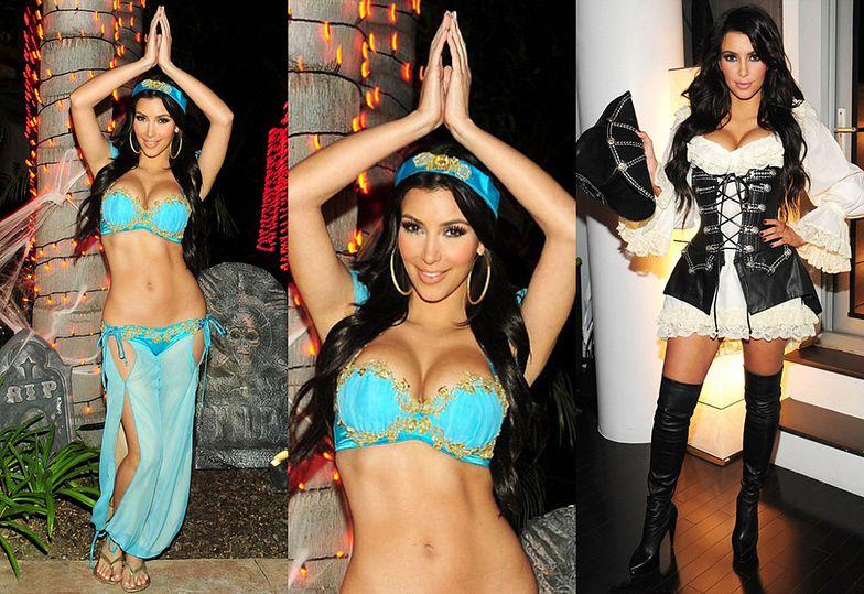 Seksowne (?) stroje Kim Kardashian na Halloween