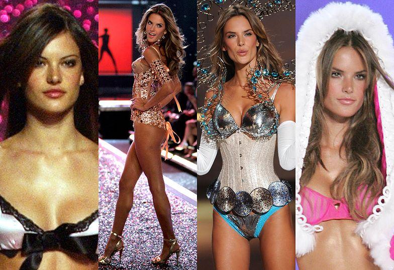 Alessandra Ambrosio w 2001, 2006, 2009 i 2005 roku