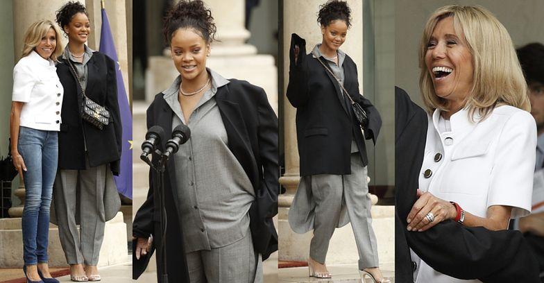 Rihanna spotkała się z Brigitte Macron