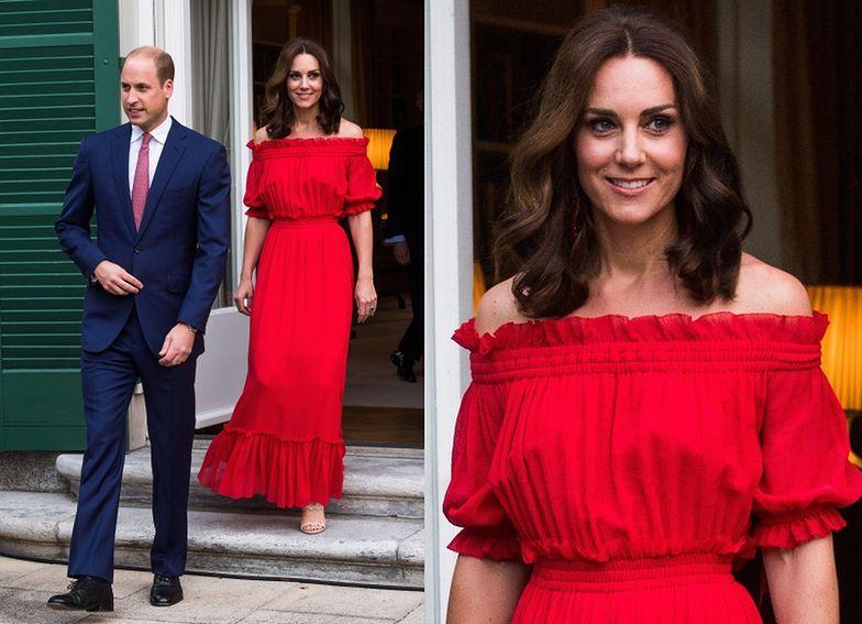 Księżna Kate z mężem na bankiecie w ambasadzie