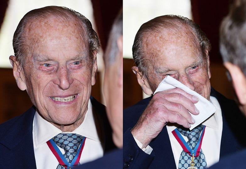 Książę Filip podczas przyjęcia w pałacu St James