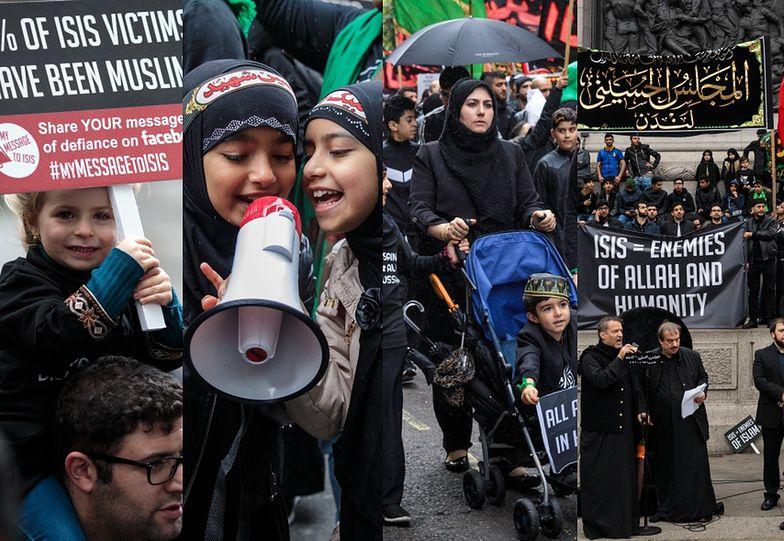 Muzułmanie protestują przeciwko ISIS