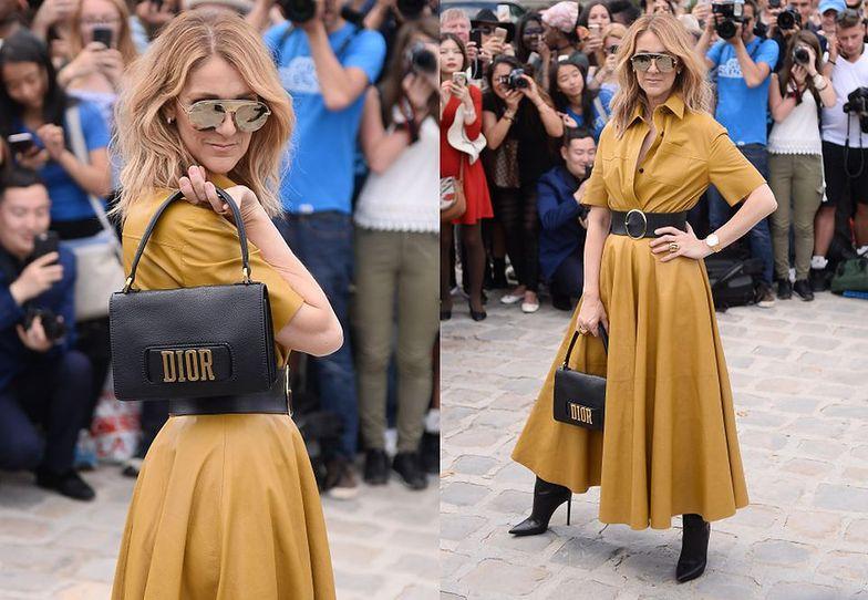 Celine Dion w drodze na pokaz Diora
