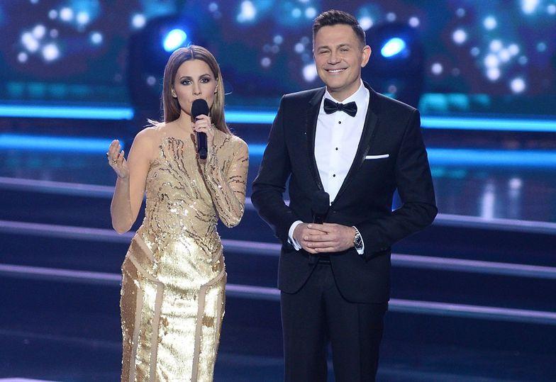 Agnieszka Hyży poprowadziła galę Miss Polski 2016 z Krzysztofem Ibiszem